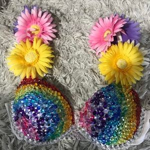 Custom rave bra